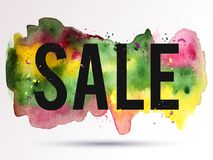 Verkoop-roze-geel-green Royalty-vrije Stock Afbeelding
