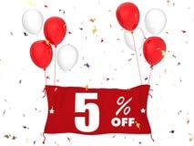 5% verkoop van banner Royalty-vrije Stock Foto
