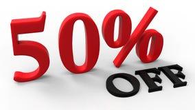 Verkoop 50% van bevordering vector illustratie