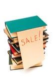 Verkoop van boeken stock foto