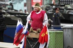 Verkoop van herinneringen op een Militaire Parade Stock Afbeelding