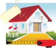 Verkoop van het privé huis stock illustratie