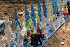 Verkoop van multi-colored cijfers van Krishna India Royalty-vrije Stock Fotografie