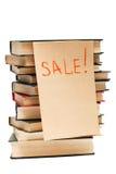 Verkoop van oude boeken stock foto