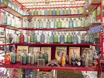 Verkoop van oude sifons Royalty-vrije Stock Foto