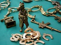 Verkoop van trinkets Stock Foto's