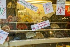 Verkoop van ventilators in Spanje Stock Afbeelding