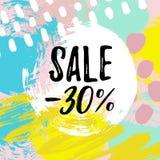 Verkoop -30% vectorbanner Stock Foto's