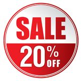 Verkoop 20% weg vector illustratie