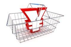 Verkoop Yen Basket Illustration Royalty-vrije Stock Afbeeldingen