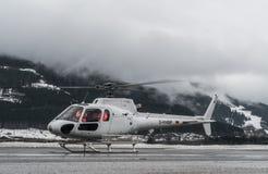 Verkoop Am zien, Oostenrijk, 31 Maart 2018, neemt de Duitse Helikopter royalty-vrije stock foto's