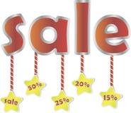 Verkoopaffiche met percentenkorting Stock Illustratie