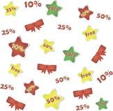 Verkoopaffiche met percentenkorting, achtergrond Vector Illustratie