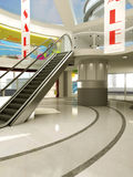 Verkoopbanner in Winkelcomplex Royalty-vrije Stock Afbeeldingen