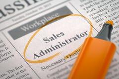 Verkoopbeheerder Job Vacancy 3D Illustratie Royalty-vrije Stock Foto
