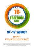 Verkoopbevordering en Reclame voor 15de August Happy Independence Day van India Royalty-vrije Stock Afbeeldingen