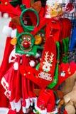 Verkoopcabine tijdens het Kerstmisseizoen royalty-vrije stock afbeelding