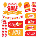 Verkoopmarkeringen & verkooppictogram Stock Afbeeldingen