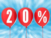 20% verkoopteken Royalty-vrije Stock Afbeelding