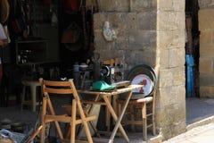 Verkooptribune in de Turkse sectie van Nikosia royalty-vrije stock fotografie