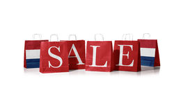 Verkoopzak Vlag van Nederland op het winkelen zakken Stock Afbeeldingen