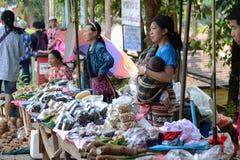 Verkopend voedsel in Doi tungboom Stock Afbeeldingen