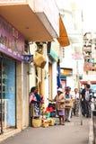 Verkopende Groenten in Ambato, Ecuador Royalty-vrije Stock Foto
