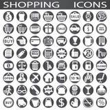 Verkopende pictogrammen stock illustratie