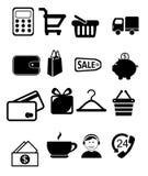 Verkopende pictogrammen Stock Foto