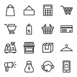 Verkopende pictogrammen Stock Fotografie