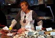 Verkoper 2 van vissen Stock Foto