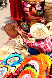 Verkoper bij nieuw jaar 1422 van Bangladesh viering Royalty-vrije Stock Foto