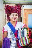 verkoper Kleurrijk beeld met een vrouw royalty-vrije stock afbeelding