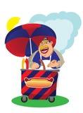 Verkoper van hotdogs Stock Illustratie