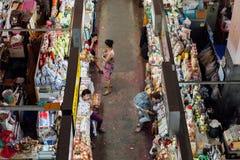 Verkopers bij de Warorot-markt, Chinag-MAI Royalty-vrije Stock Afbeelding