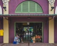 Verkopers van de Santurce-Markt stock foto