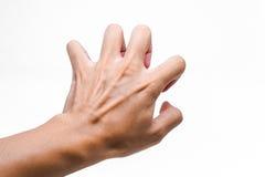 Verkratzen des Handzeichens Lizenzfreie Stockfotos