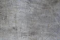 Verkratzte Aluminiumplattenbeschaffenheit lizenzfreies stockbild