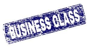 Verkratzte BUSINESS-CLASS gestaltete gerundeten Rechteck-Stempel stock abbildung