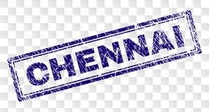 Verkratzter CHENNAI-Rechteck-Stempel lizenzfreie abbildung