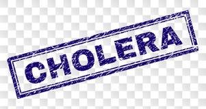 Verkratzter CHOLERA Rechteck-Stempel vektor abbildung