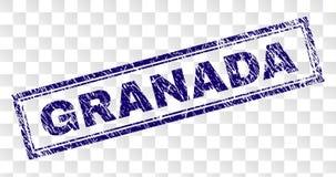 Verkratzter GRANADA-Rechteck-Stempel stock abbildung