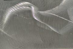 Verkratzter und strukturierter Stahl Stockfoto