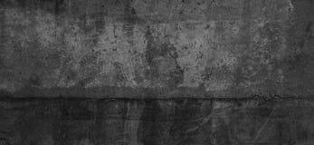 Verkratztes Betonmauerhintergrundschwarzgrau Lizenzfreies Stockfoto