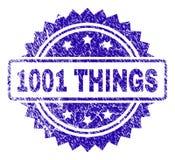 Verkratztes 1001 SACHEN Stempelsiegel vektor abbildung
