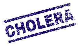 Verkratztes strukturiertes CHOLERA Stempelsiegel lizenzfreie abbildung