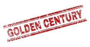Verkratztes strukturiertes GOLDENES JAHRHUNDERT Stempelsiegel lizenzfreie abbildung