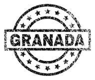 Verkratztes strukturiertes GRANADA-Stempelsiegel lizenzfreie abbildung