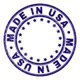 Verkratztes strukturiertes HERGESTELLT IN USA ringsum Stempelsiegel stock abbildung
