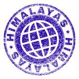 Verkratztes strukturiertes HIMALAJA Stempelsiegel lizenzfreie abbildung
